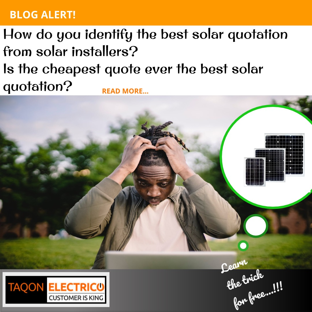 How to identify the best solar quotation from solar installers?