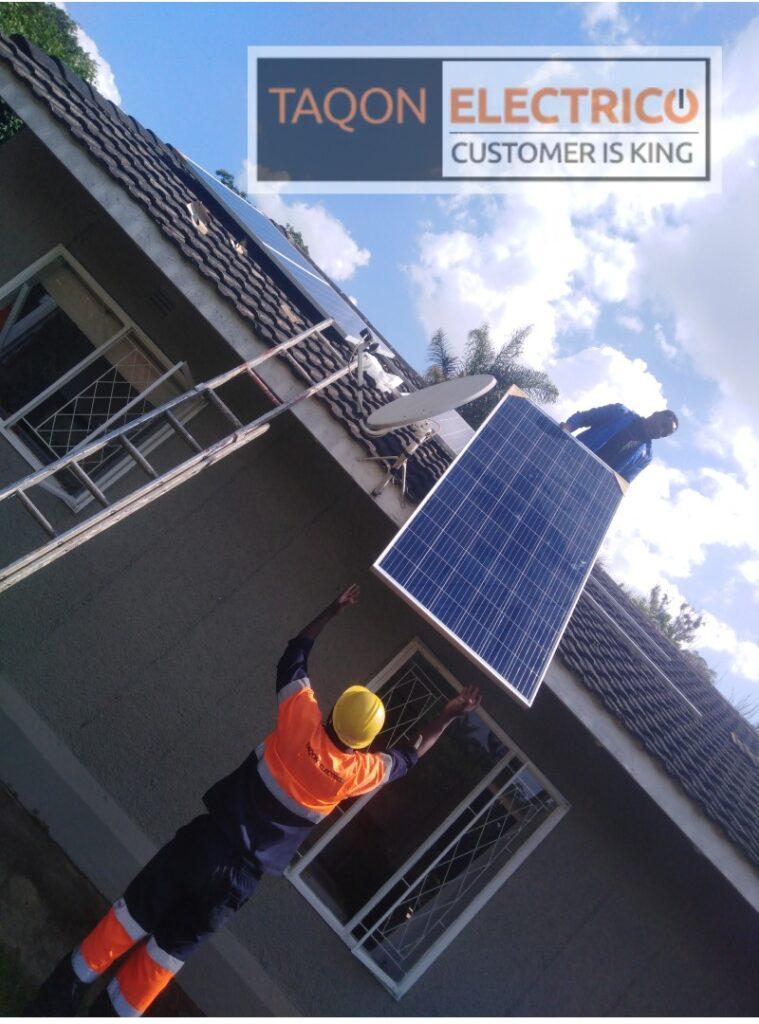 solar installation done by Taqon Electrico
