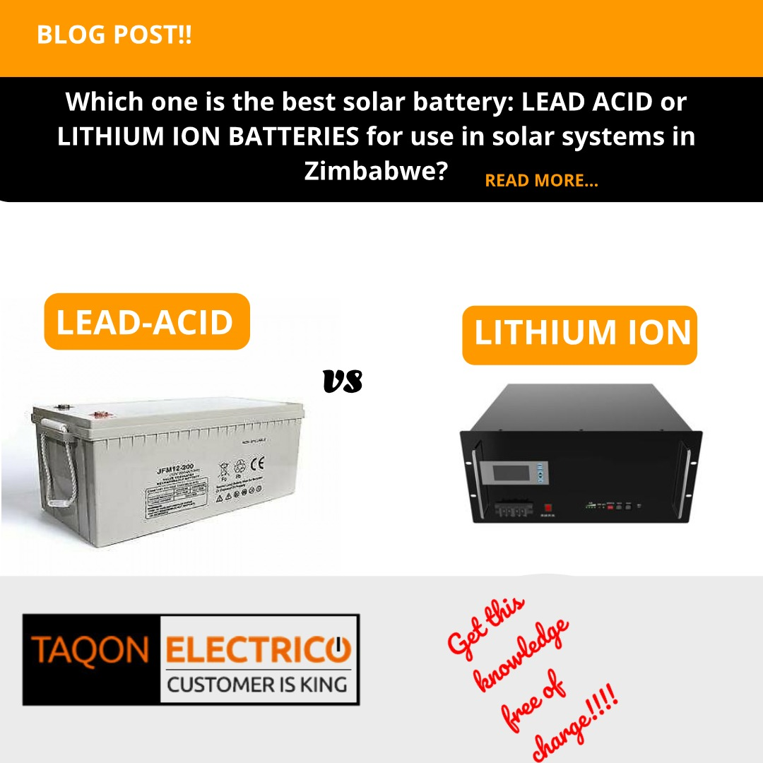 The best solar battery : lithium or lead acid?